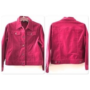 Relativity Jacket Button Down Pink Sz Petite Med